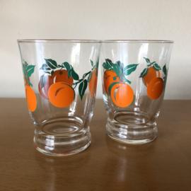 Vintage glaasjes sinaasappels