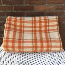 Wollen deken oranje