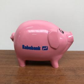 Roze varken spaarpot rabobank