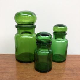 3 groene apothekerspotten