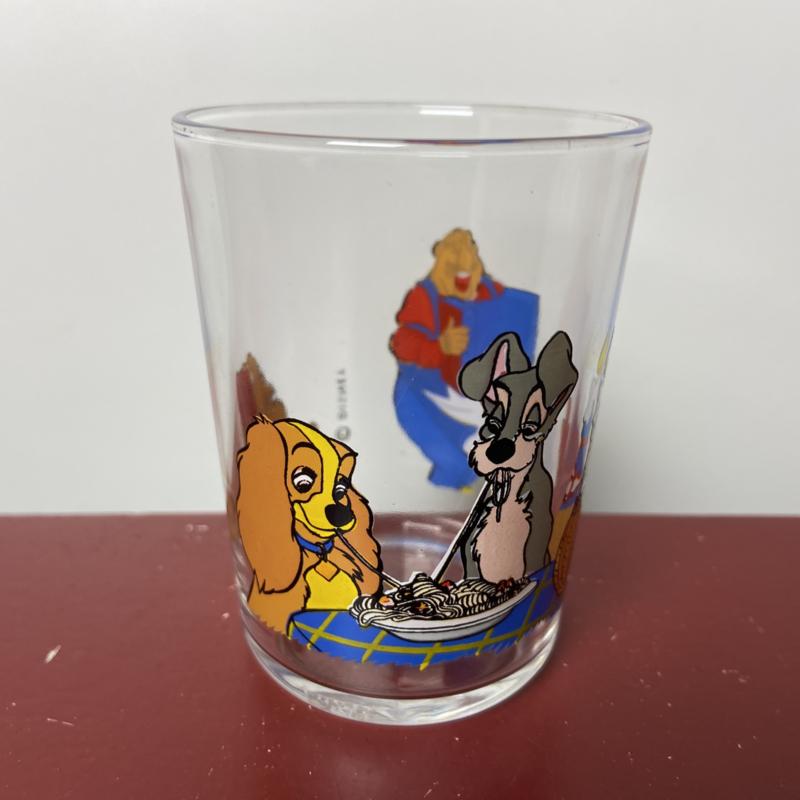 Lady en de vagebond glas