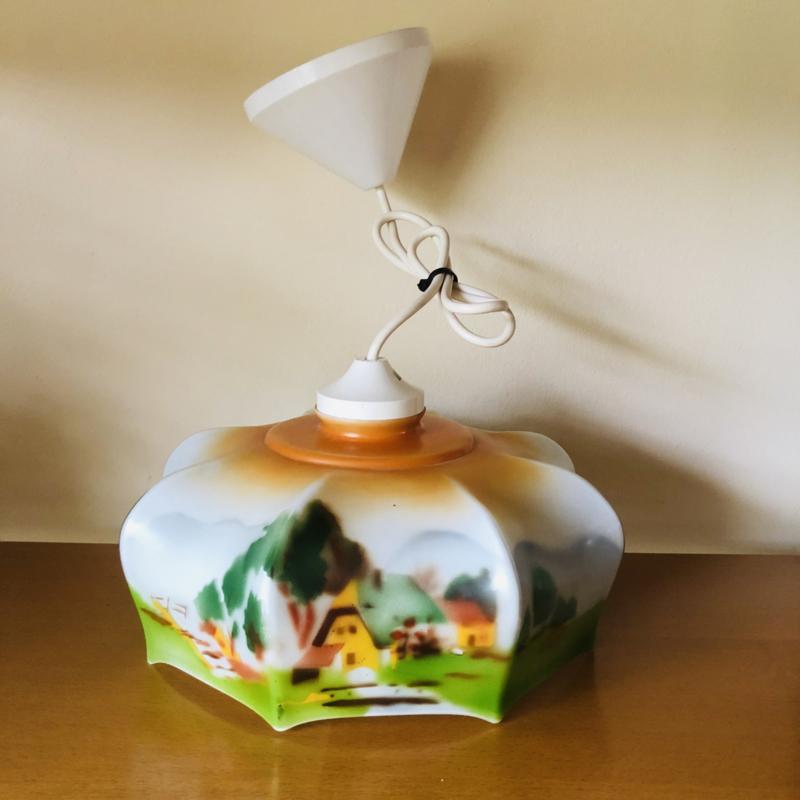 Vintage lamp oranje