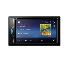 Pioneer AVH-A200BT Autoradio 2DIN AV DVD-speler  met Bluetooth handsfree en streaming, rear USB, AUX