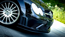 MERCEDES CLK W209 BLACK FRONT SPLITTER (SL BLACK SERIES LOOK)