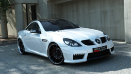 MERCEDES SLK R171 AMG172 LOOK FRONT BUMPER + SIDE GRID'S + LED + MESH