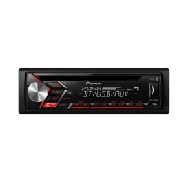 Pioneer DEH-S3000BT Autoradio 4x 50W met Bluetooth USB en AUX, rode toetsverlichting