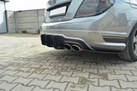 MERCEDES C W204 REAR DIFFUSER & REAR SIDE SPLITTERS