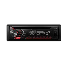 Pioneer DEH-S4000BT Autoradio 4x 50W met Bluetooth USB en AUX, rode toetsverlichting