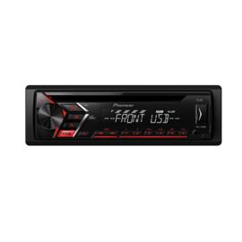 Pioneer DEH-S100UB Autoradio 4x 50W met USB en AUX, rode toetsverlichting