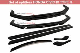 HONDA CIVIC IX TYPE R SET OF SPLITTERS BODYKIT LIPPENSET