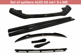AUDI A5 S-LINE LIP SET BODYKIT SET OF SPLITTERS