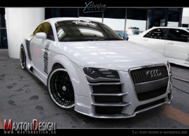 AUDI TT EYEBROWS < R8 LOOK > FIT FOR R8 LOOK BUMPER