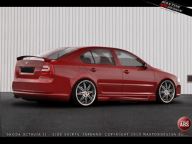 SKODA OCTAVIA II SIDE SKIRTS < INFERNO > SALOON