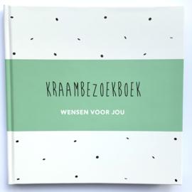 Kraambezoekboek - groene cover