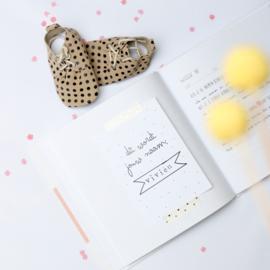 Zwangerschapsdagboek - roze