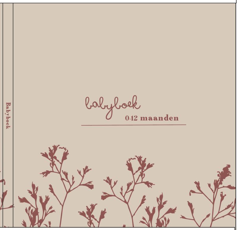 Babyboek - linnen cover