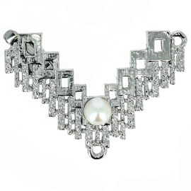 cl-029 Luxe Sluiting Rhodium Plated 27x43mm