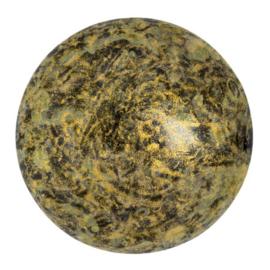pcab-045 Metallic Matt Old Gold Spotted 25mm cabochon 23980/65322