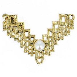 cl-028 Luxe Sluiting 23krt. Gold plated 27x43mm