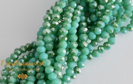 fr-045 Half Rainbow Plated Medium Green/Turquoise (+/- 145st)