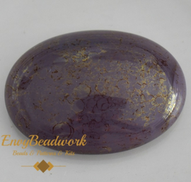 gc-006 Glas Cabochon Lilac/Gold ovaal 25x18mm