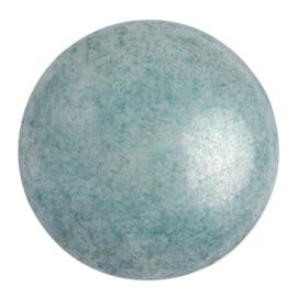pcab-038 Opaque Blue Ceramic Look 25mm cabochon 03000/14464
