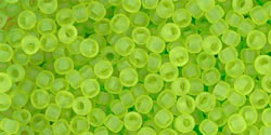 tr-11-4f Transparent-Frosted Lime Green