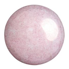 pcab-037 Opaque Light Rose Ceramic Look 25mm cabochon 03000/14494