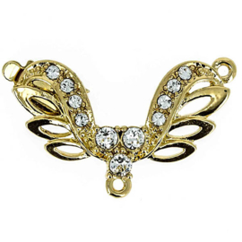 cl-026 Luxe Sluiting 23krt.gold plated 37x28mm