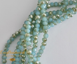 fr-046 Abacus Half Plated Turquoise (+/-95st)