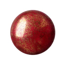 pcab-003  Opaque Coral Red Bronze 18mm Cabochon 93210/15496