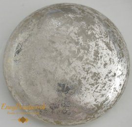 gc-003 Glas cabochon Crystal Zilver rond 25mm
