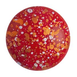 pcab-036  Opaque Coral Red Tweedy 25mm Cabochon 93210/45703