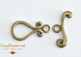 cl-010 Sluiting toggle bronze kleur 21mm