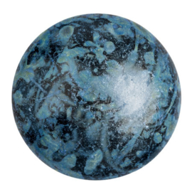pcab-044 Metalic Matt Blue/Gold Spotted 25mm cabochon 23980/65325