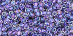 tr-11-265 Inside Color Rainbow Crystal/Metallic Purple-Lined