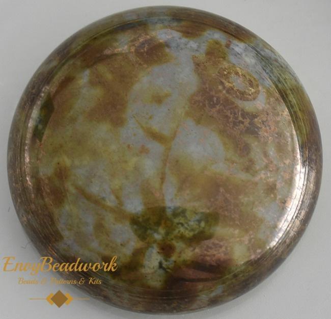 gc-002 Glas Cabochon Grijs/Bronze 25mm
