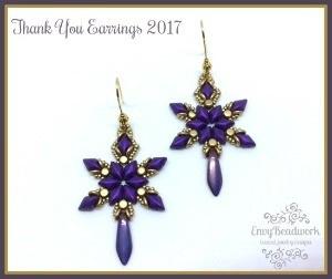 Thank you earrings 2017 Nederlands