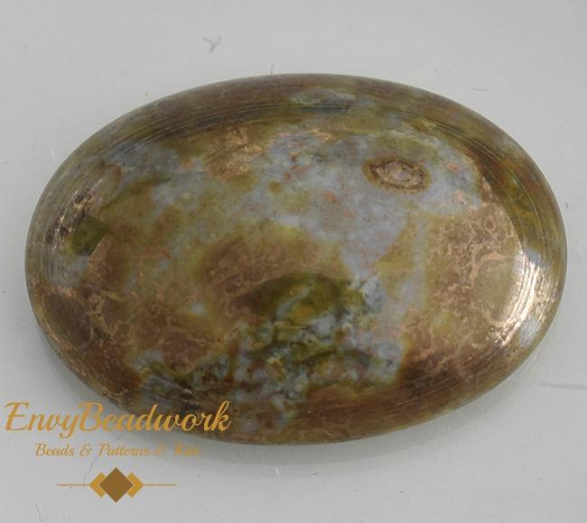 gc-005 Glas Cabochon Grijs/Bronze ovaal 25x18mm