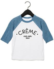 T-shirt Denim blue | Crème van een zus