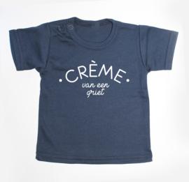 Navy T-shirt 50/56 | Crème van ...