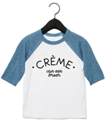 T-shirt Denim Blue | Crème van een broer