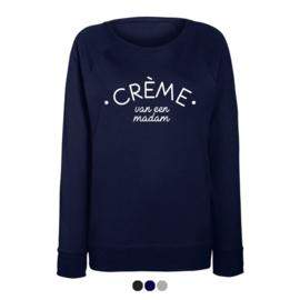 Dames sweater | Crème van een madam