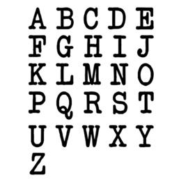 Juulz | Muurstickers | Alfabet Typewriter
