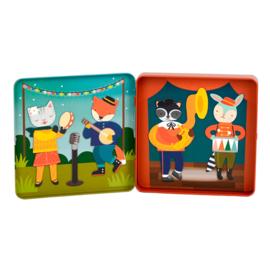 Petit Collage | Magneetset Aankleedspel - Muziekband