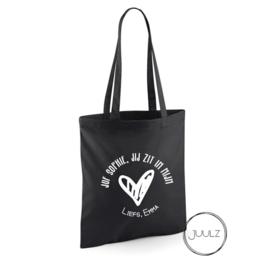 Shopping bag | Juf/Meester *naam*, jij zit in mijn hart
