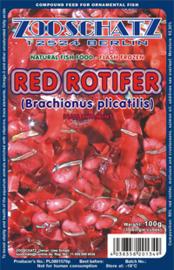 Rode-rotifer, rode-brachionus visvoer plak 500gr
