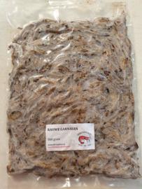 Rauwe garnalen shrimpfood 500gram