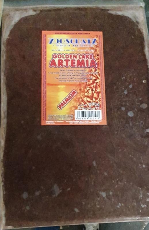 Artemia Golden lake Plaat 200gr