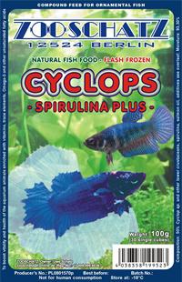Cyclops spirulina plus plak 500gr